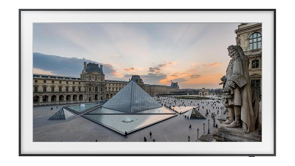 A photograph of the Louvre Pyramid - Credit: Samsung