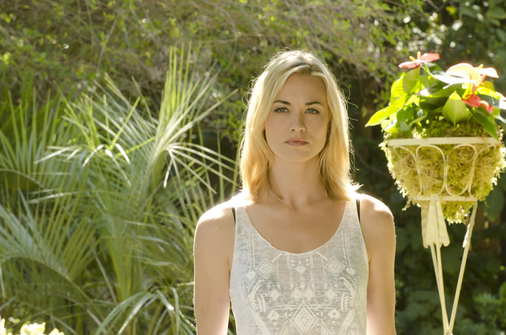 "Yvonne Strahovski as Hannah McKay in the ""Dexter"" episode, ""Buck the System."""