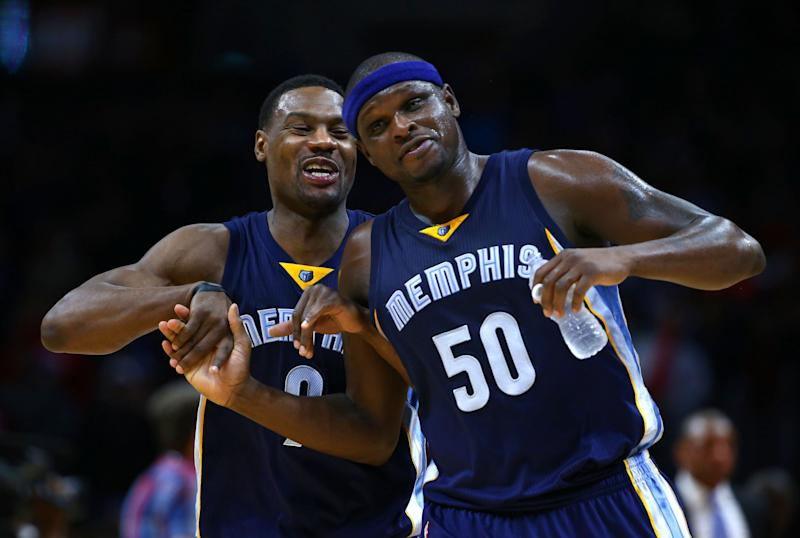 Tony Allen and Zach Randolph defined the 'Grit-and-Grind' Grizzlies, but they might both be on their way out of Memphis. (Getty Images)