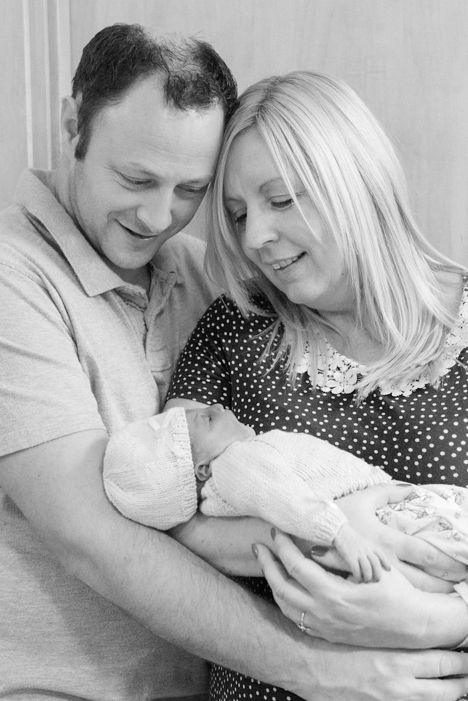 The couple are fundraising to provide a soundproof maternity bereavement suite [Photo: Remember My Baby / SWNS.com]