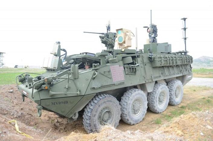 U.S. Army Stryker Automotive UAV Laser Defense System