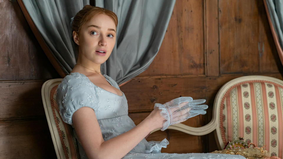 Phoebe Dynevor was ready to leave Los Angeles just before she was cast in hit Netflix period drama 'Bridgerton'. (Liam Daniel/Netflix)