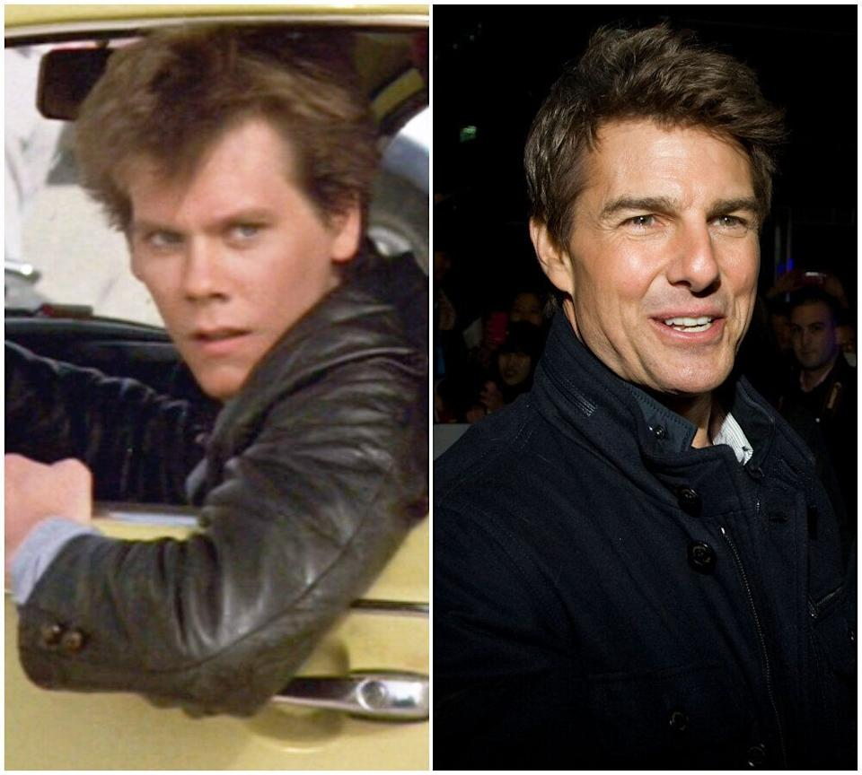 Kevin Bacon and Tom Cruise (Photo: Rex/Getty)