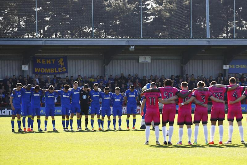 Minute's silence | AFC Wimbledon and Southend United observed the tribute at Kingsmeadow: REUTERS
