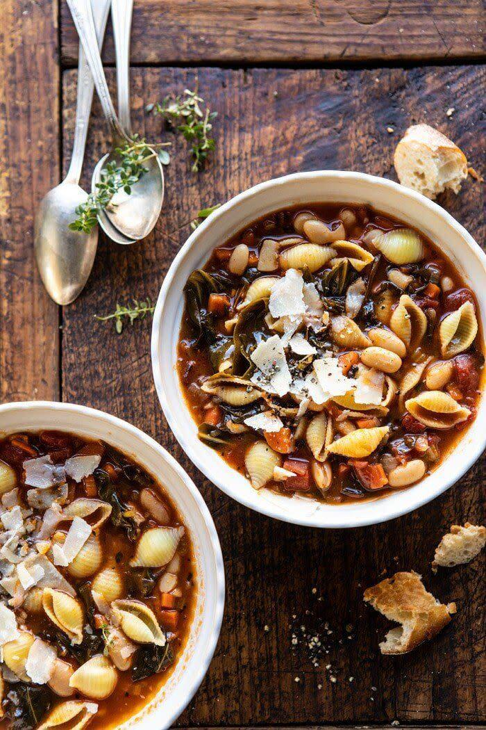 "<strong><a href=""https://www.halfbakedharvest.com/instant-pot-pasta-e-fagioli/"" rel=""nofollow noopener"" target=""_blank"" data-ylk=""slk:Get the Instant Pot Pasta Fagioli recipe from Half Baked Harvest"" class=""link rapid-noclick-resp"">Get the Instant Pot Pasta Fagioli recipe from Half Baked Harvest</a></strong>"