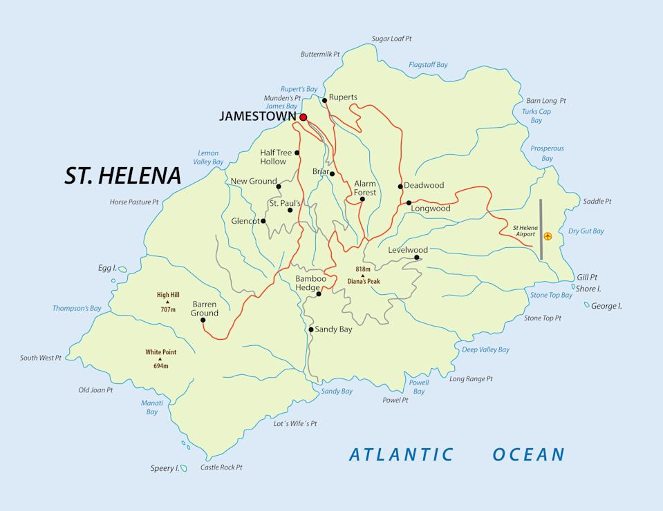 Researchers analysed rocks from the British Island St Helena in the Atlantic Ocean. (Getty)
