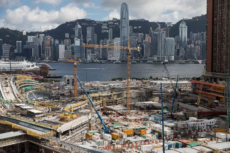 The West Kowloon terminus is in the heart of semi-autonomous Hong Kong, on its famous harbourfront, not near the boundary with China that lies further north