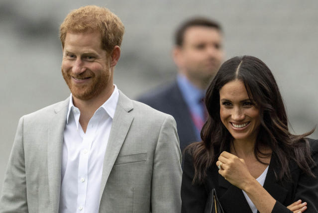 The Duke and Duchess of Sussex intend to step back their duties and responsibilities as senior members of the Royal Family (AP)