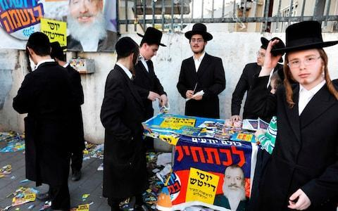 The ultra-Orthodox often vote in a bloc at the direction of their rabbis - Credit: MENAHEM KAHANA/AFP/Getty Images