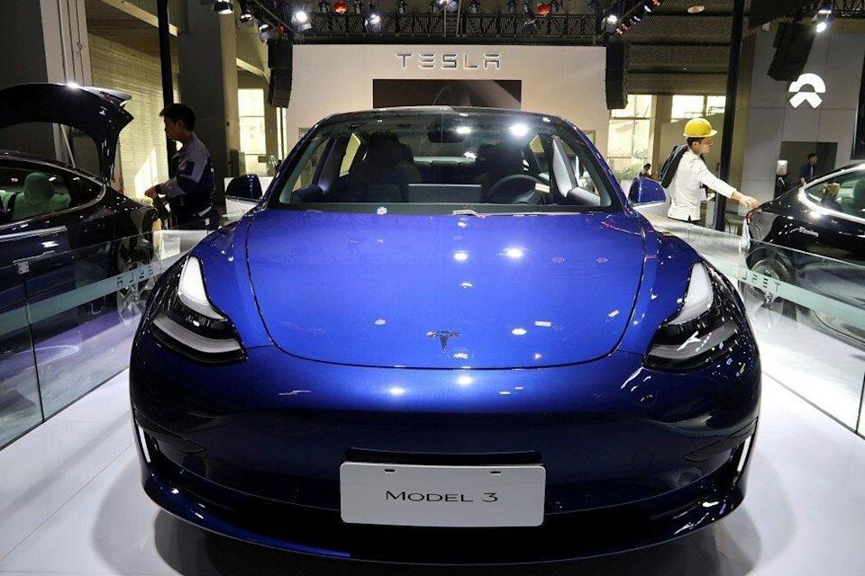 A Tesla Model 3 electric vehicle, made at the carmaker's Gigafactory in Shanghai, is seen ahead of the Guangzhou auto show in the Guangdong province capital in 2019. Photo: Reuters