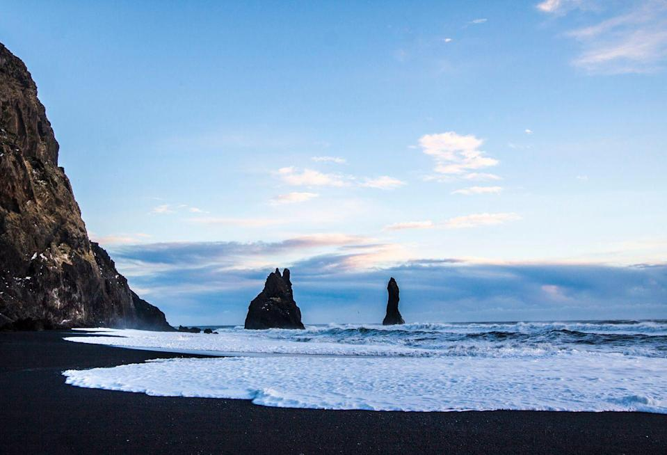 <p>Iceland might not conjure up images of a beach vacation, but the black sand beaches of its southernmost town, Vik, are worth exploring.</p>
