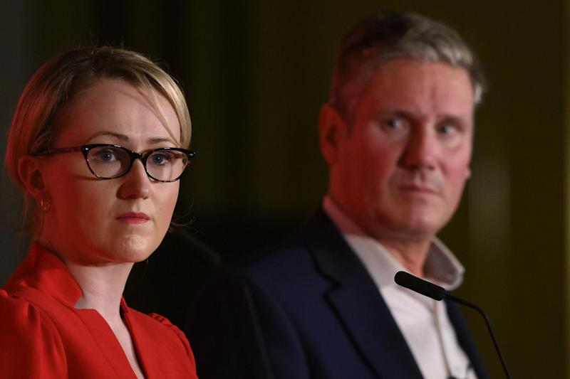 Rebecca Long-Bailey pictured next to Sir Keir Starmer (Getty Images)