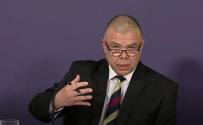 Screen grab of Deputy Chief Medical Officer for England Professor Jonathan Van Tam during a briefing on the AstraZeneca vaccine in London. Picture date: Wednesday April 7, 2021.