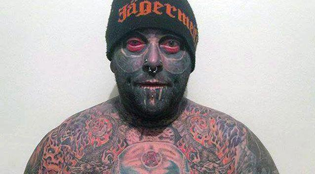 Tattboy even has a tattoo on his eyeball. Photo: Caters