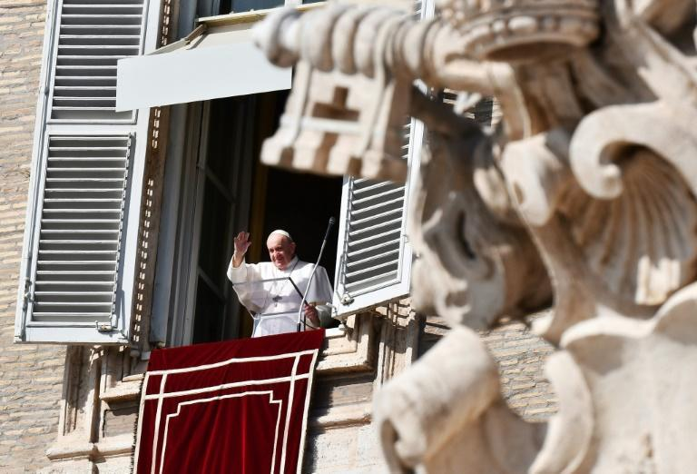 Pope Francis (pictured October 25, 2020) was deprived of a congregation at Easter when he had to celebrate mass at Saint Peter's with very few people present, due to the coronavirus