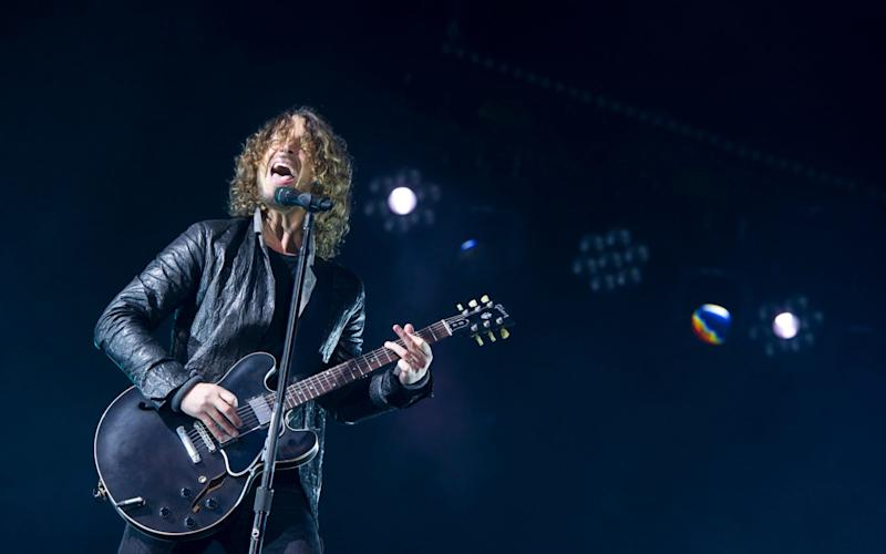 Chris Cornell, performing in Hyde Park in 2012 - Credit:  AP