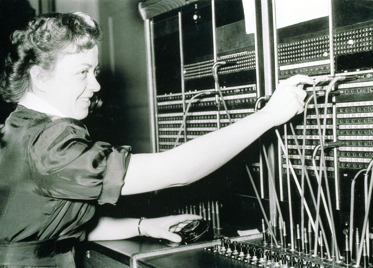 <p>In the 1950s, offices had their own operator and calls were connected through a series of switches. How's that for call waiting?</p>