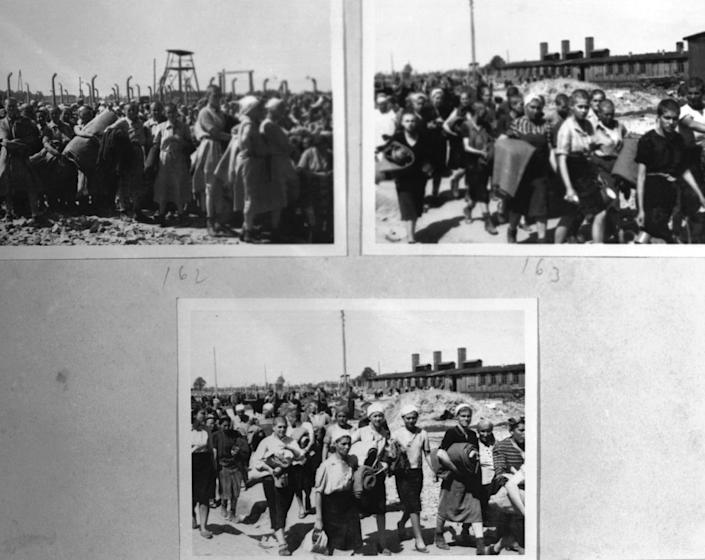 "<span class=""caption"">Of 1.3 million men and women sent to the Nazi death camp Auschwitz, 1.1 million died.</span> <span class=""attribution""><a class=""link rapid-noclick-resp"" href=""https://www.gettyimages.com/detail/news-photo/page-extraite-de-lalbum-dauschwiitz-trouv%C3%A9-par-lili-jacob-news-photo/948311708?adppopup=true"" rel=""nofollow noopener"" target=""_blank"" data-ylk=""slk:API/Gamma-Rapho via Getty Images"">API/Gamma-Rapho via Getty Images</a></span>"