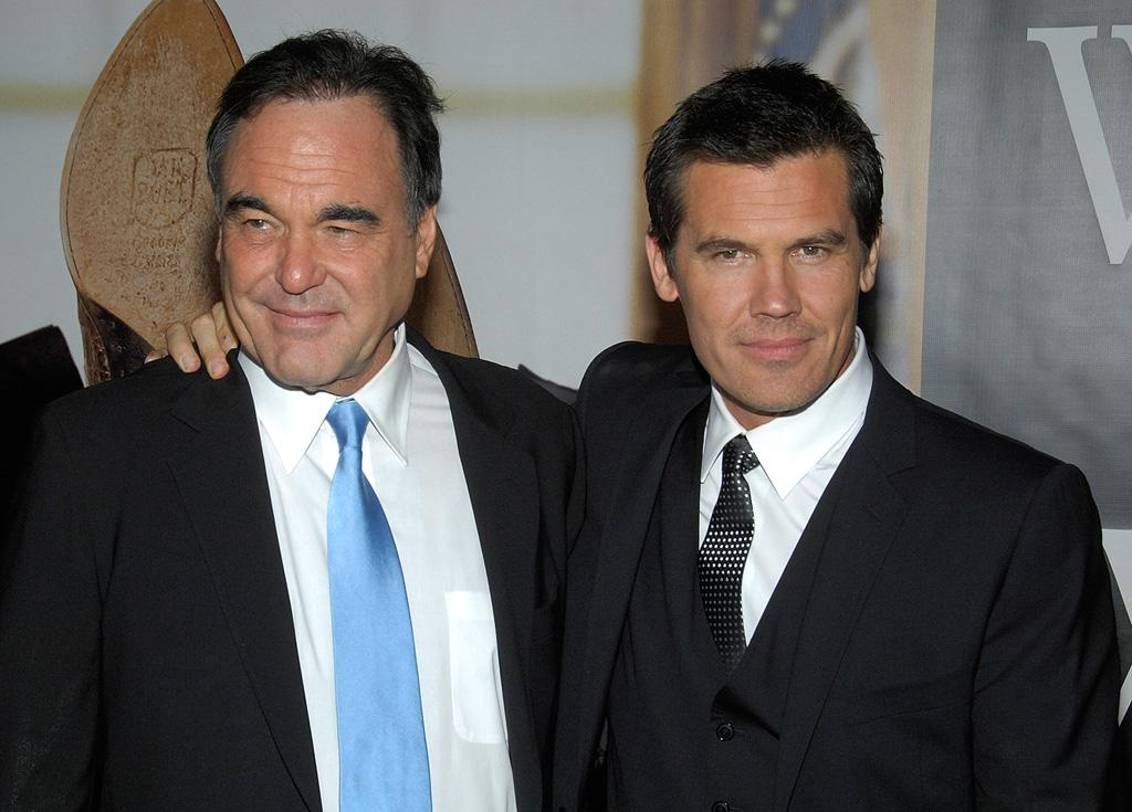 """Director <a href=""""http://movies.yahoo.com/movie/contributor/1800011649"""">Oliver Stone</a> and <a href=""""http://movies.yahoo.com/movie/contributor/1800019611"""">Josh Brolin</a> at the New York premiere of <a href=""""http://movies.yahoo.com/movie/1810026489/info"""">W.</a> - 10/14/2008"""
