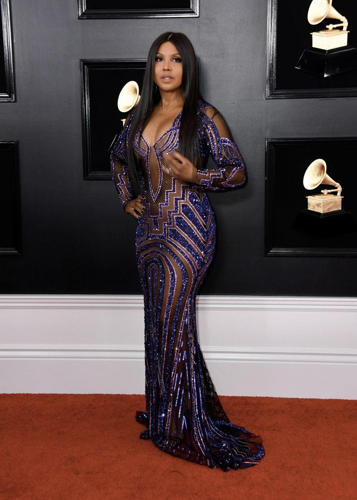 <p>Toni Braxton attends the 61st annual Grammy Awards at Staples Center on Feb. 10, 2019, in Los Angeles. </p>