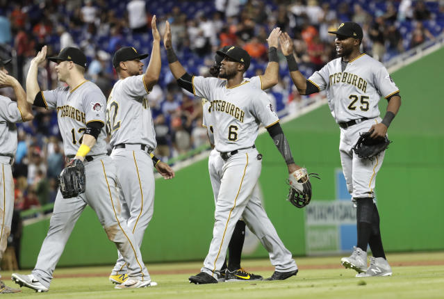 The Pirates outfield has been crucial early in the season. (AP Photo)