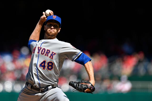 Jacob deGrom helped the New York Mets remain kings of opening day with another brilliant performance against the Nationals. (Photo by Patrick McDermott/Getty Images)