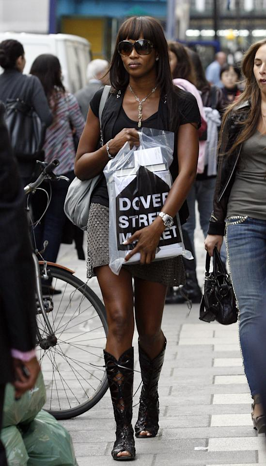 Naomi Campbell sighting shopping in Mayfair on September 21, 2009 in London. Photo courtesy of Getty Images.