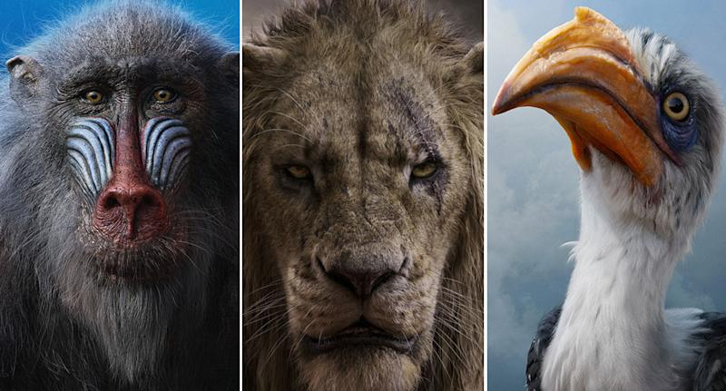 New character posters for The Lion King.