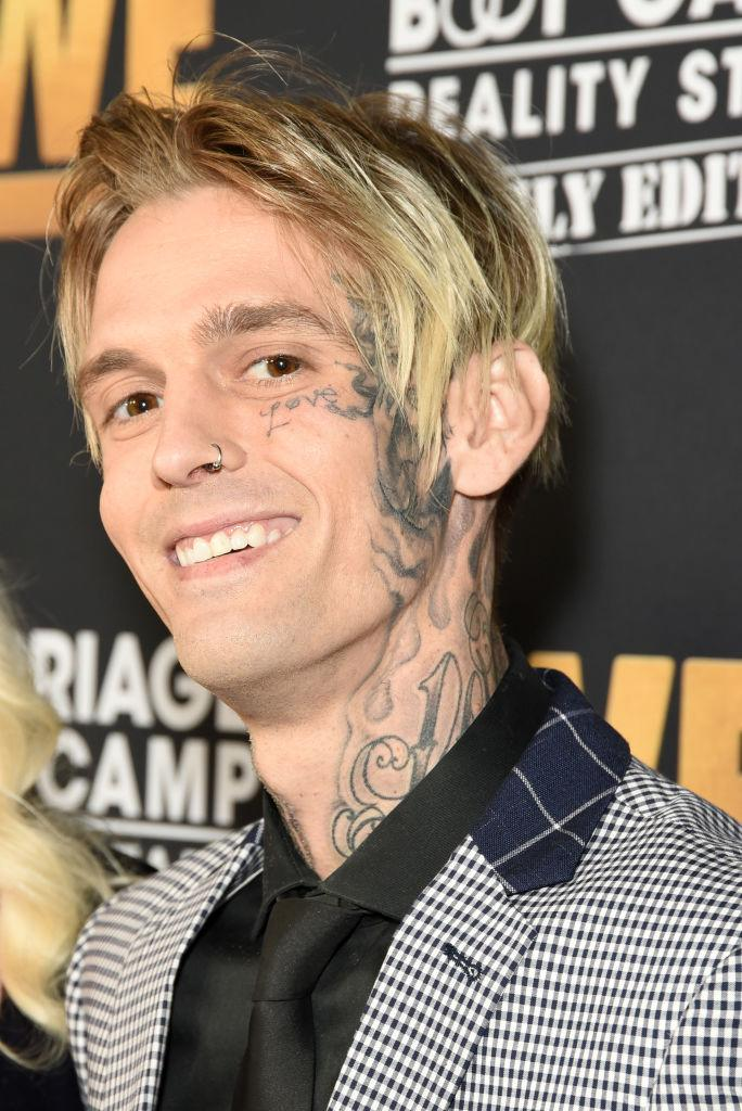 "Aaron Carter promotes ""Marriage Boot Camp Family Edition"" on Oct. 10, in West Hollywood, Calif. (Photo: Presley Ann/Getty Images for WE tv )"