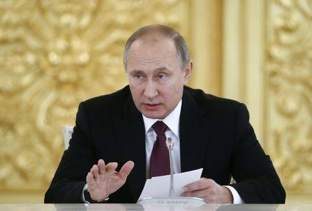 Russia's President Vladimir Putin attends a session of the Council for Civil Society and Human Rights in Moscow