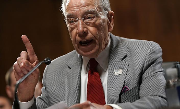 The Republicans on the Senate Judiciary Committee, led by Chuck Grassley (Iowa), are hiring a woman as outside counsel to question Brett Kavanaugh and Christine Blasey Ford. (Photo: Alex Wong/Getty Images)