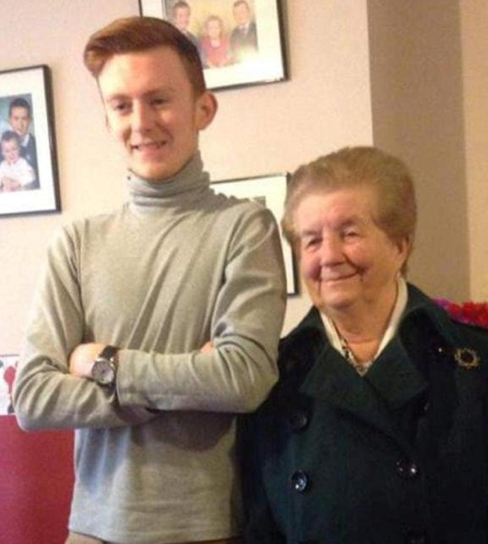 Billy Hood pictured with his grandmother (Family handout/Detained in Dubai/SWNS)