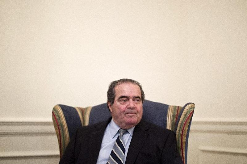 Supreme Court Justice Antonin Scalia is interviewed by The Associated Press, Thursday, July 26, 2012, at the Supreme Court in Washington. (AP Photo/Haraz N. Ghanbari)