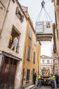 Rescue operation for man suffering from obesity in Perpignan