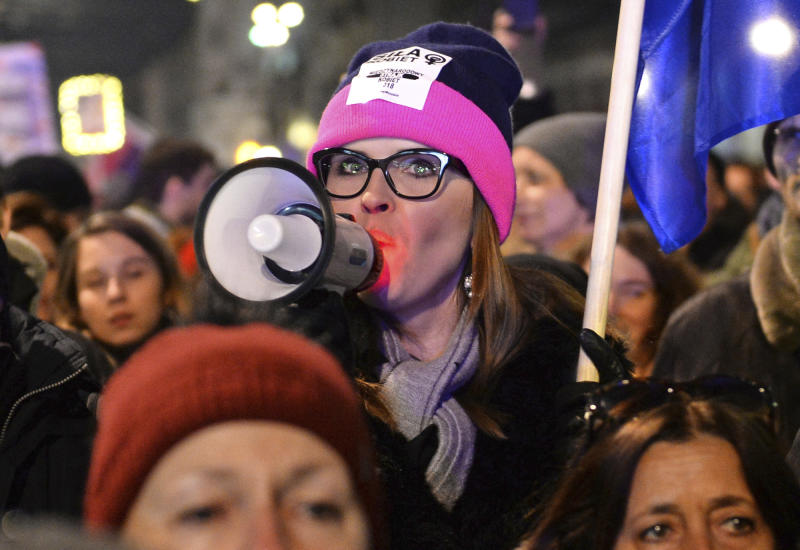 Int'l Women's Day: Protests, a strike, a Russian's apology