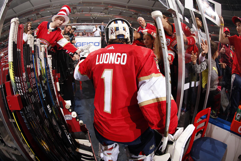 Roberto Luongo will work with Florida Panthers GM, Dale Tallon. (Photo by Eliot J. Schechter/NHLI via Getty Images)