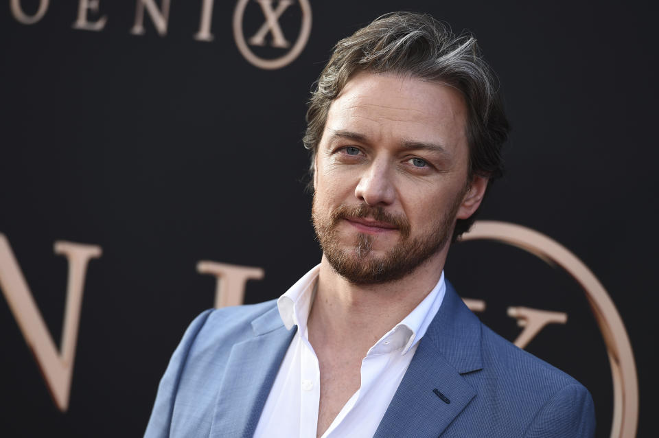 """Cast member James McAvoy arrives at the Los Angeles premiere of """"Dark Phoenix"""" at TCL Chinese Theatre on Tuesday, June 4, 2019. (Photo by Jordan Strauss/Invision/AP)"""