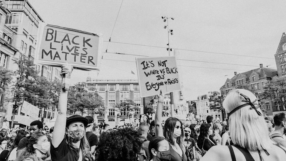 """<div class=""""paragraphs""""><p>A picture from the Black Lives Matter protests.</p></div>"""