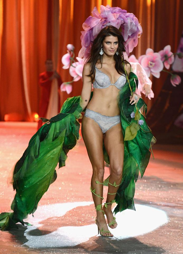 Isabeli Fontana walks the runway during the 2012 Victoria's Secret Fashion Show at the Lexington Avenue Armory on November 7, 2012 in New York City.