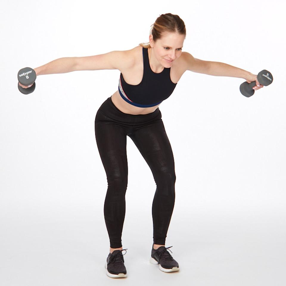 """<p>Most people head into a workout focusing on the areas we consider the most noticeable—butt, stomach, legs, etc. But here's a secret: Strong upper-body muscles (and back muscles, specifically) are not only key for an overall defined look, but they're your best defense against pain, injury, and poor posture for years to come.</p> <p>Try these eight back exercises at home or at the gym to sculpt a strong, sexy back, and shoulders all at once. </p> <p><strong>How it works:</strong> Three or four days a week, do 1 set of each of these exercises for back fat, with little or no rest in between moves. After the last exercise, rest 1 to 2 minutes and repeat the full circuit 2 more times (3 times total).<br /><strong>You'll need:</strong> A pair of light-weight dumbbells and a pair of medium-weight dumbbells</p> <p>(Related: <a href=""""https://www.shape.com/fitness/workouts/10-best-workout-videos-youtube"""" target=""""_blank"""">10 Best YouTube Accounts for Free At-Home Workouts</a>)</p>"""