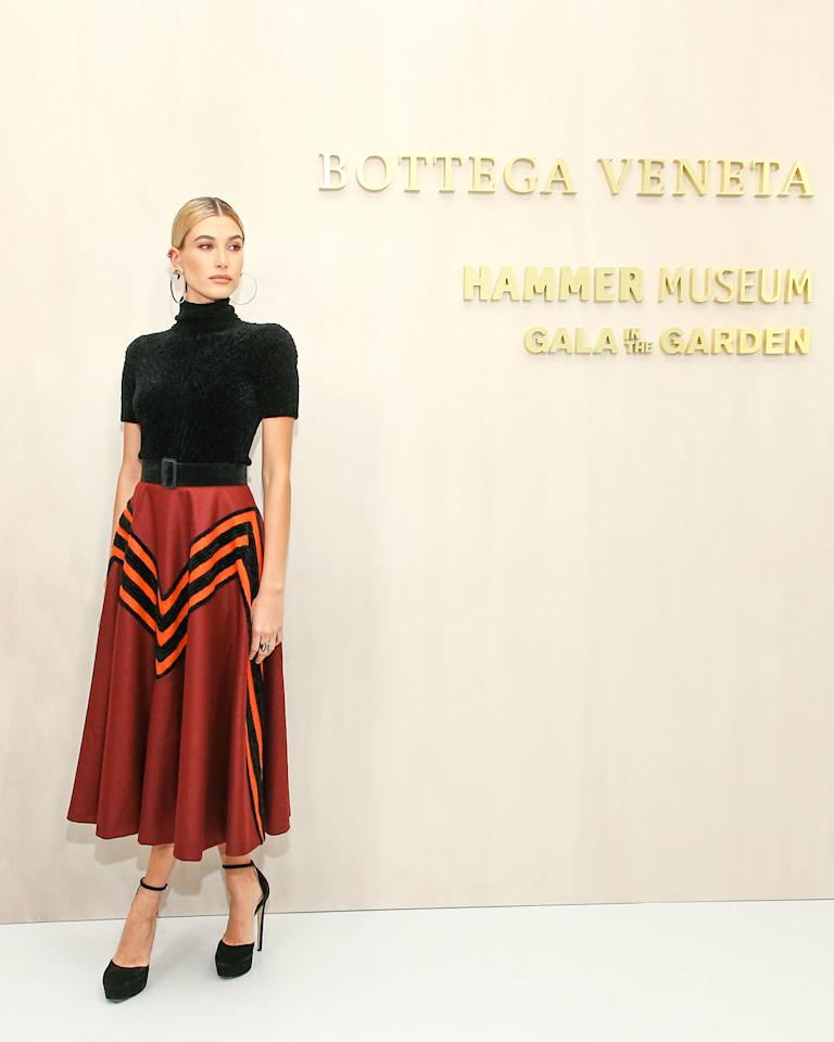 <h2>In Bottega Veneta</h2>                                                                                                                                                                             <p><p>At the Hammer Museum's 15th Annual Gala in the Garden supported by Bottega Veneta in Los Angeles, 2017</p>                                                                                                                                                                               <h4>Courtesy of Bottega Veneta</h4>