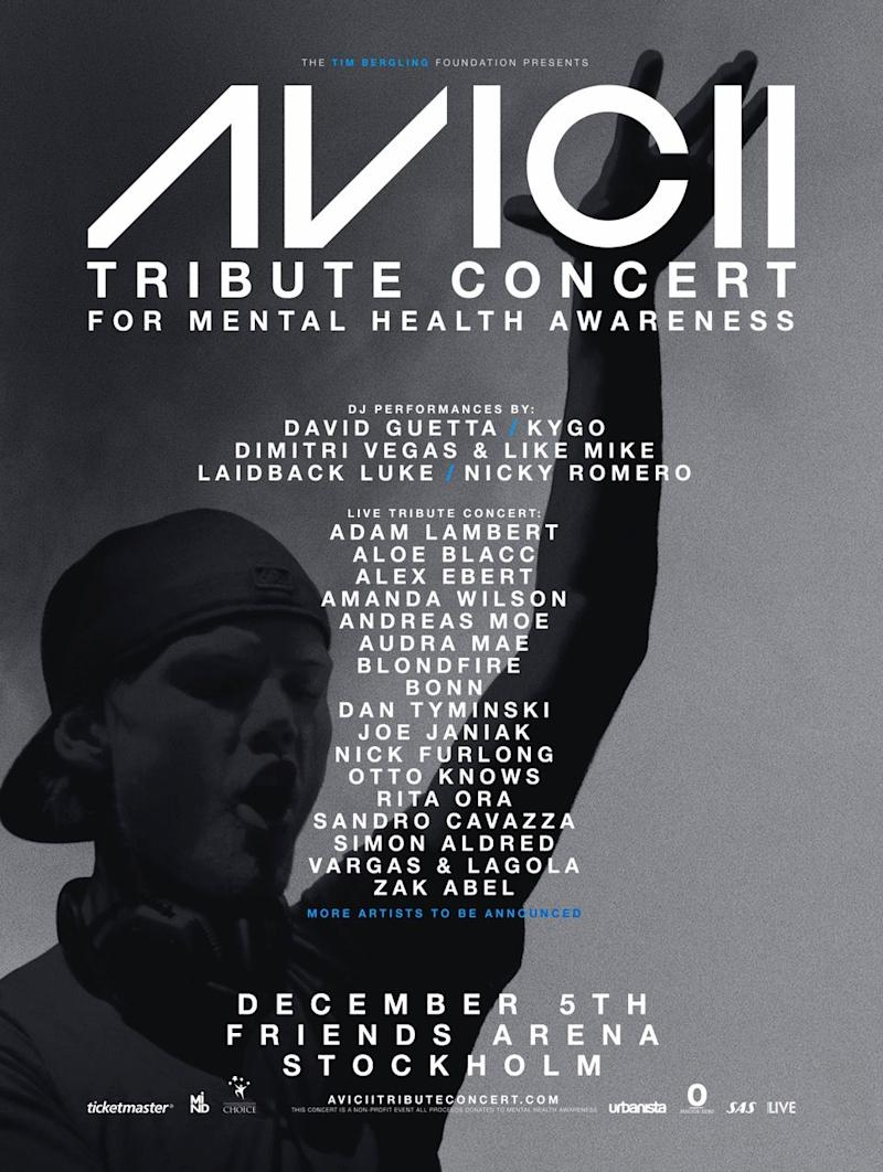 Avicii's former collaborators team up for tribute concert