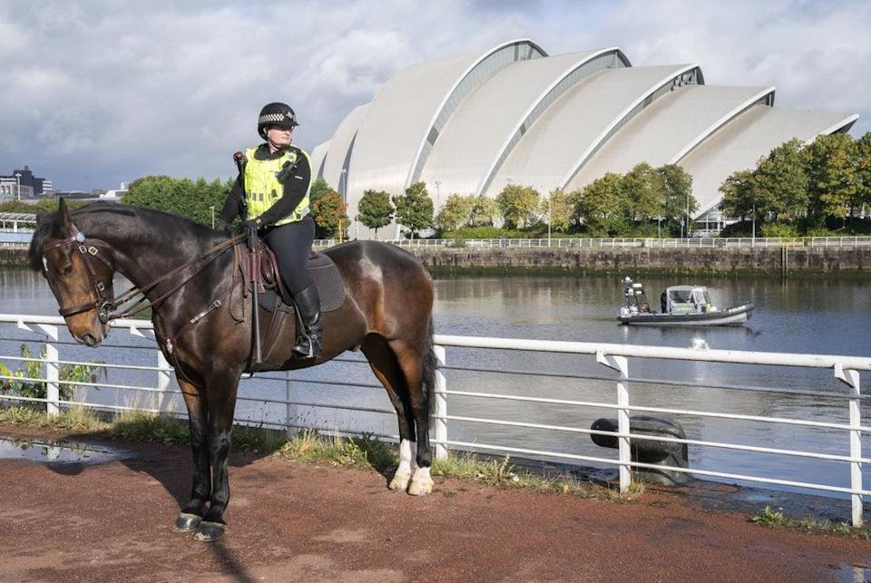 About 10,000 officers will be deployed each day in Glasgow during Cop26 (Jane Barlow/PA) (PA Wire)