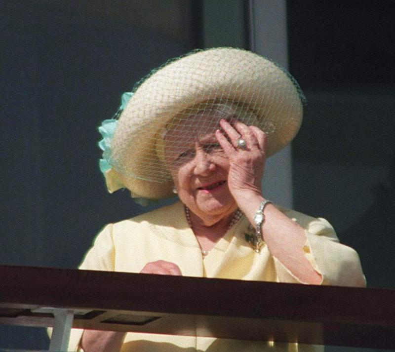 The Queen Mother's pearl ring could also be a likely choice. Photo: Getty Images
