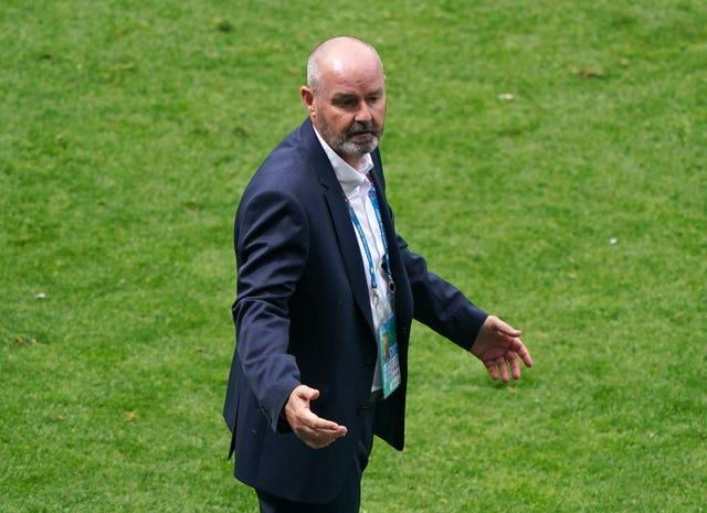 Steve Clarke was without a key player for his side's Euro 2020 opener