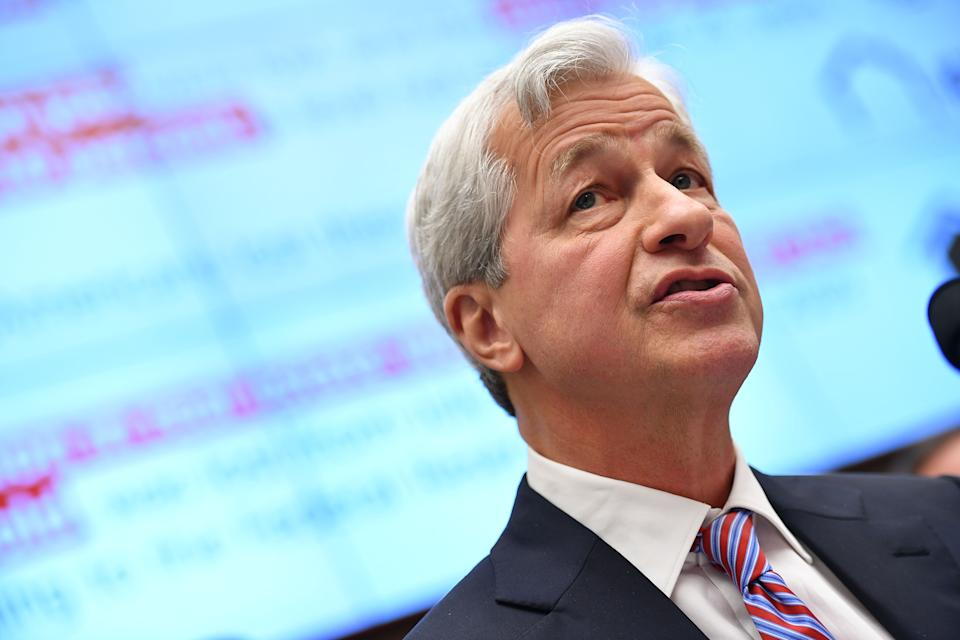 JP Morgan Chase & Co. Chairman & Chief Executive Officer Jamie Dimon testifies before the House Financial Services Committee on accountability for megabanks in the Rayburn House Office Building on Capitol Hill in Washington, DC on April 10, 2019. (Photo by MANDEL NGAN / AFP)        (Photo credit should read MANDEL NGAN/AFP/Getty Images)