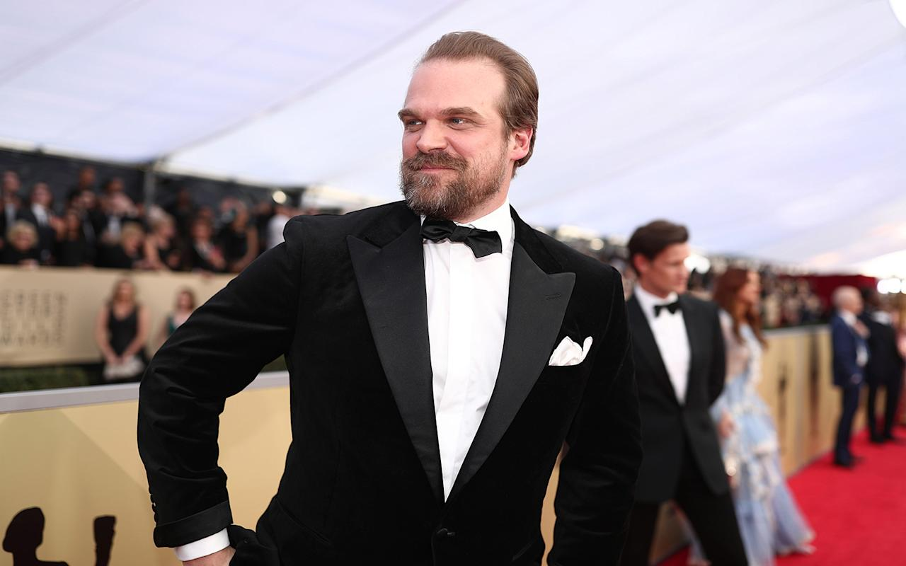 David Harbour Dances with Penguins in Antarctica