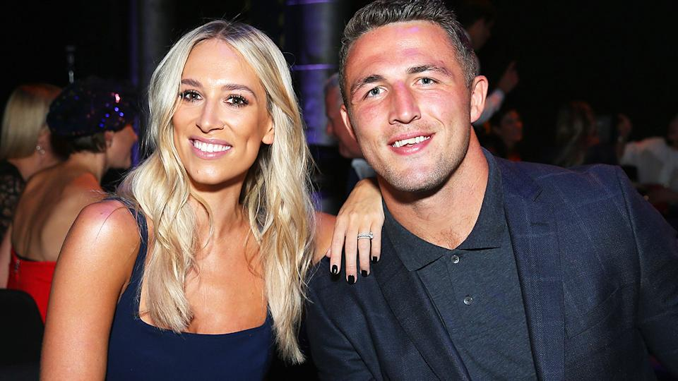 Phoebe and Sam Burgess, pictured here in 2018.