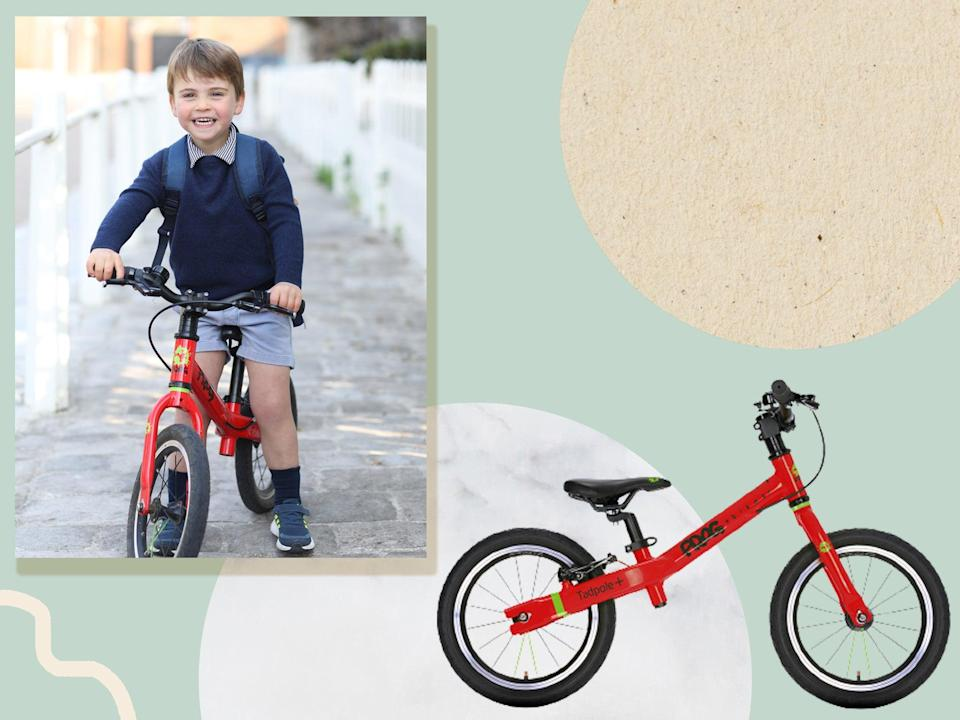 <p>The young prince was photographed showing off his cycling skills</p> (Getty/The Independent)