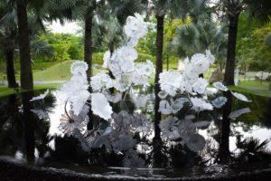 Chihuly Studio's 'Ethereal White Persian Pond' at the Serene Garden. Photo: Coconuts